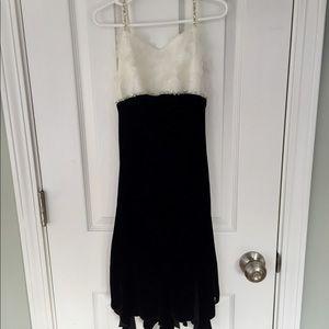 Velvet and sparkle sleeveless dress